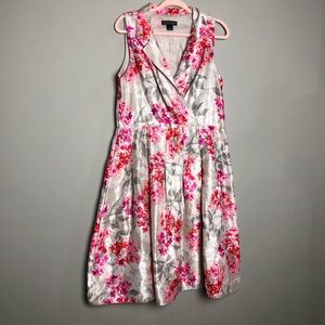Jessica Howard floral fit and flare pleated dress